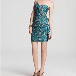 Max & Cleo Keegan bluesail strapless ruched dress